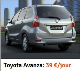 modele voiture location toyota